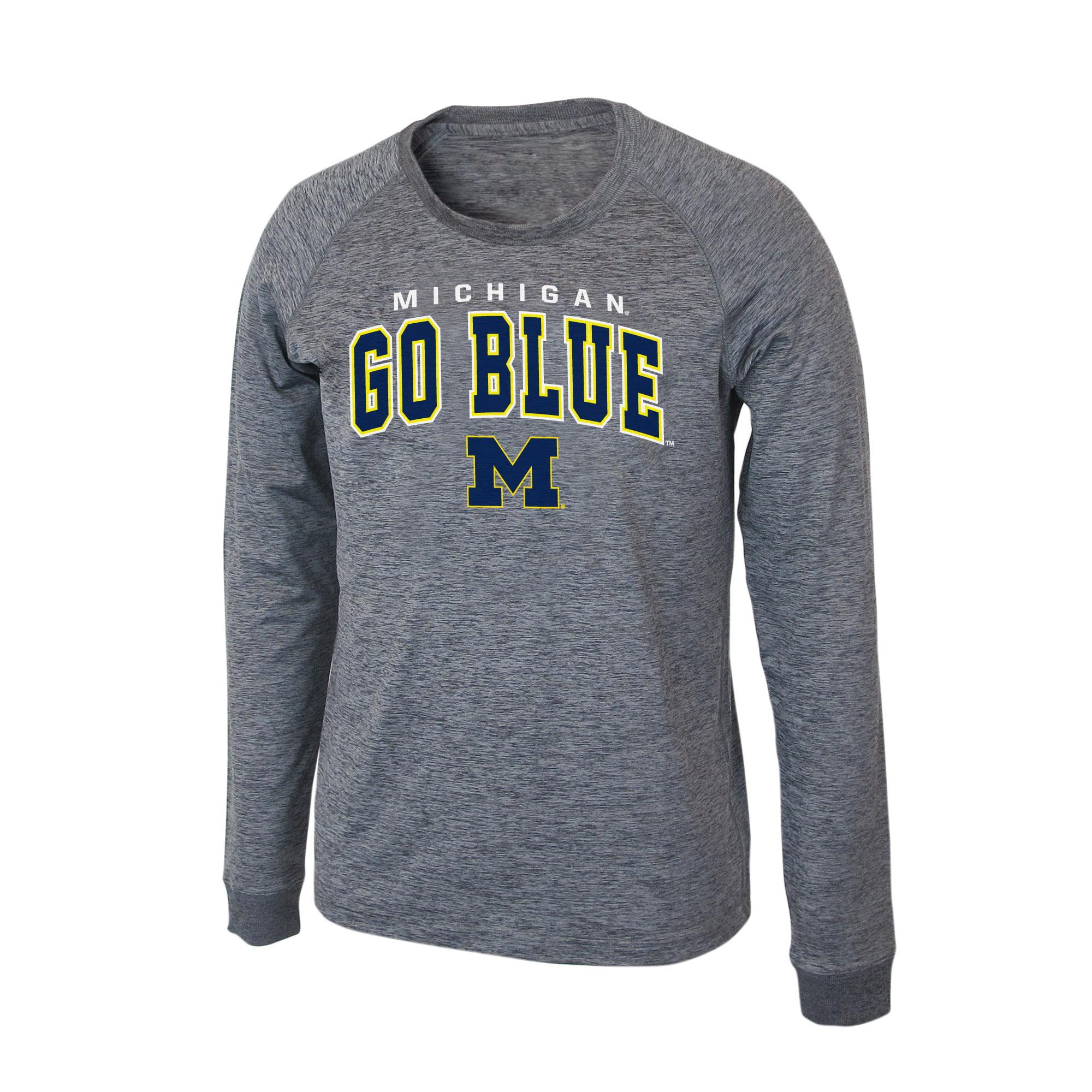 "Michigan Wolverines NCAA ""Slate"" Long Sleeve Slub Shirt - Charcoal"
