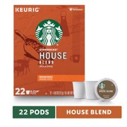 Starbucks House Blend Medium Roast Single Cup Coffee for Keurig Brewers Box of 22 K-Cup Pods