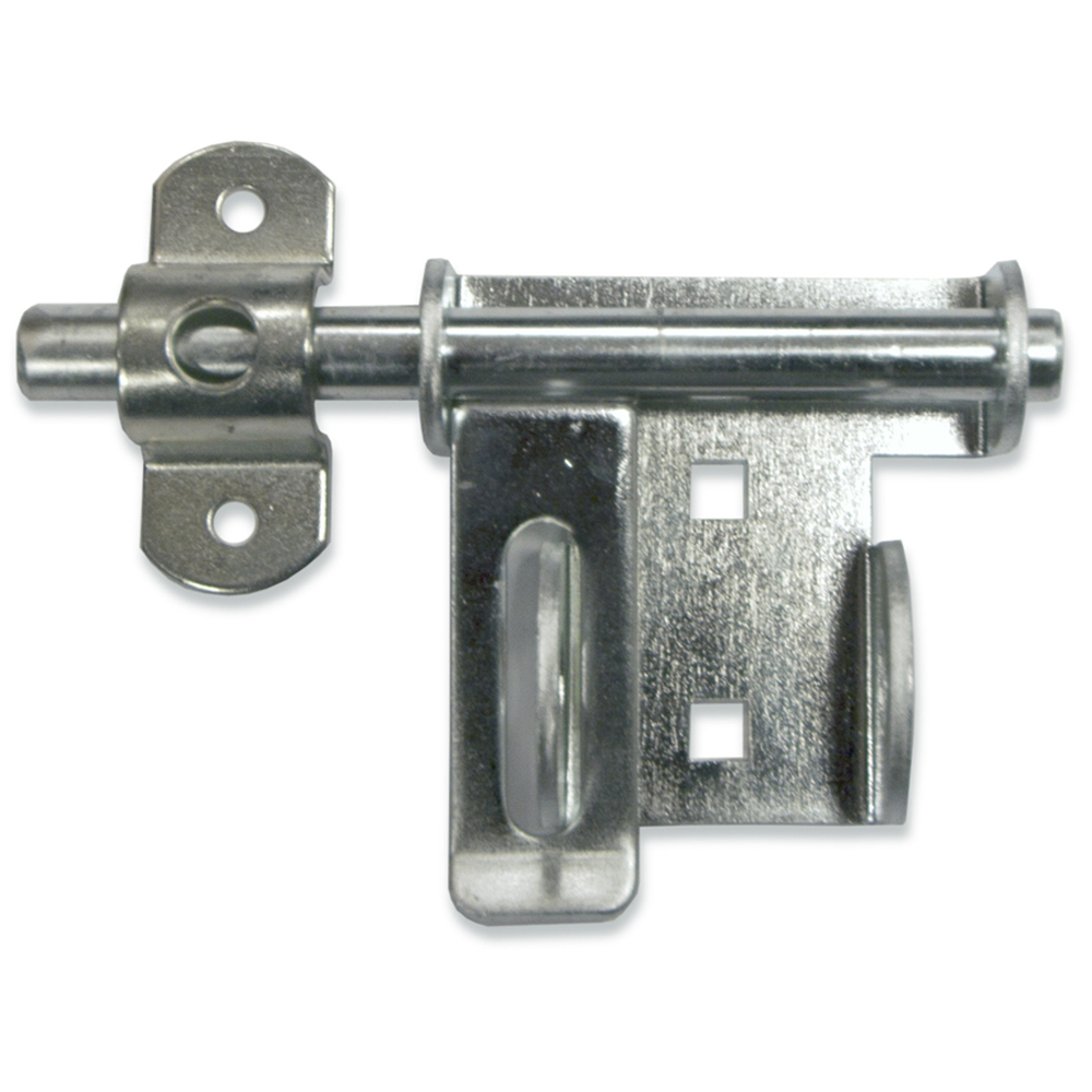 E900 HARDWARE Q4-2P Garage Door Heavy-Duty Slide Bolt Lock