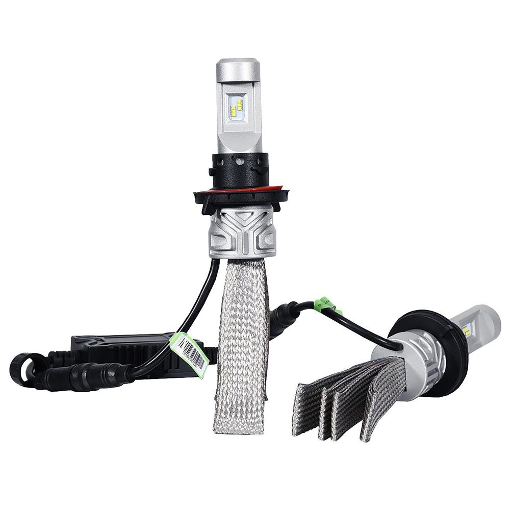 LED Headlight for Cars, BEAMNOVA 2PCS H13 9008 LED Headlight Bulbs Conversion Kit with Copper Belt 8000lm 6500K High Low Beam Headlamps Driving Head Lamp DRL Fog Light