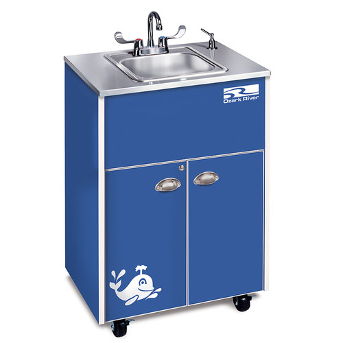Ozark River Portable Sinks Splasher Series 26'' x 18'' Portable Handwash Station With Faucet