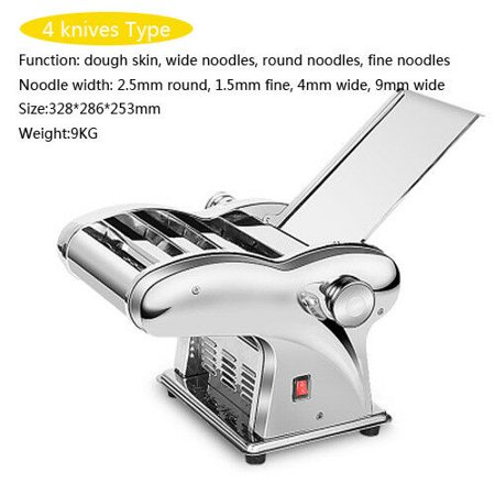 Pasta Machine, Electric Stainless Steel Pasta Maker with Pasta Cutter for Household Noodle Rolling Machine Semi-automatic Dumplings Wonton Maker 110V Semi Automatic Electric Paper Cutter