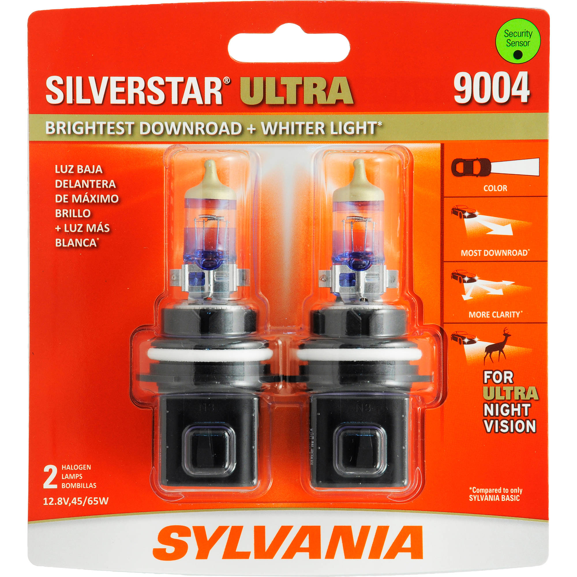 SYLVANIA 9004 SilverStar ULTRA , Twin Pack