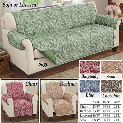 Fantastic Paisley Reversible Furniture Cover Protector Loveseat Chocolate Gmtry Best Dining Table And Chair Ideas Images Gmtryco
