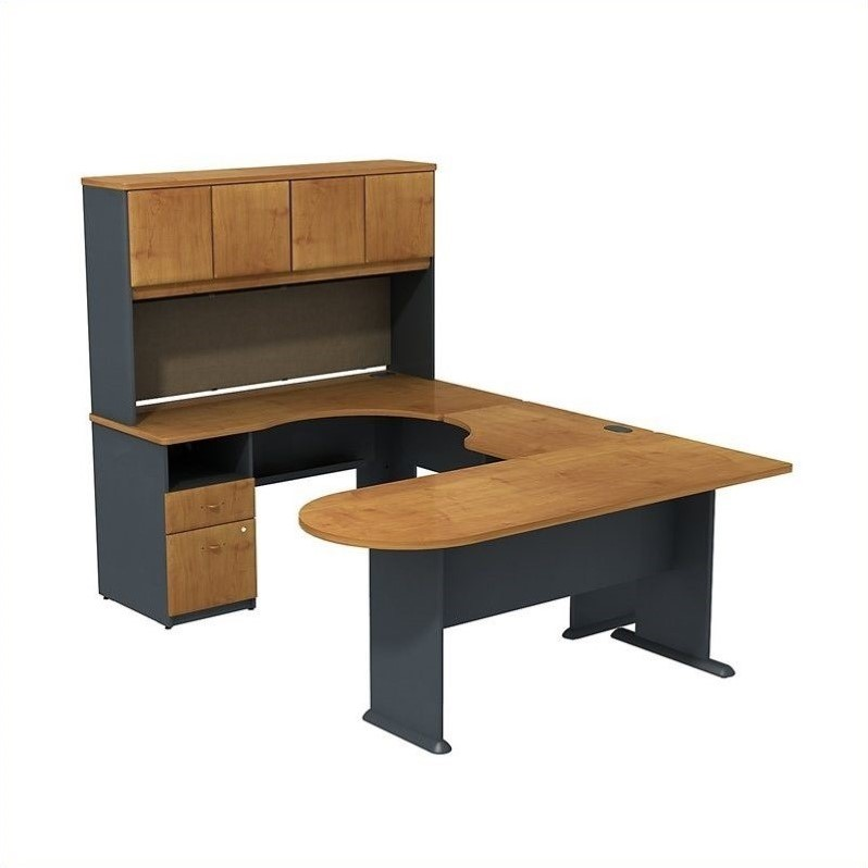 Scranton & Co U Shaped Desk with Hutch and Storage - image 1 de 1