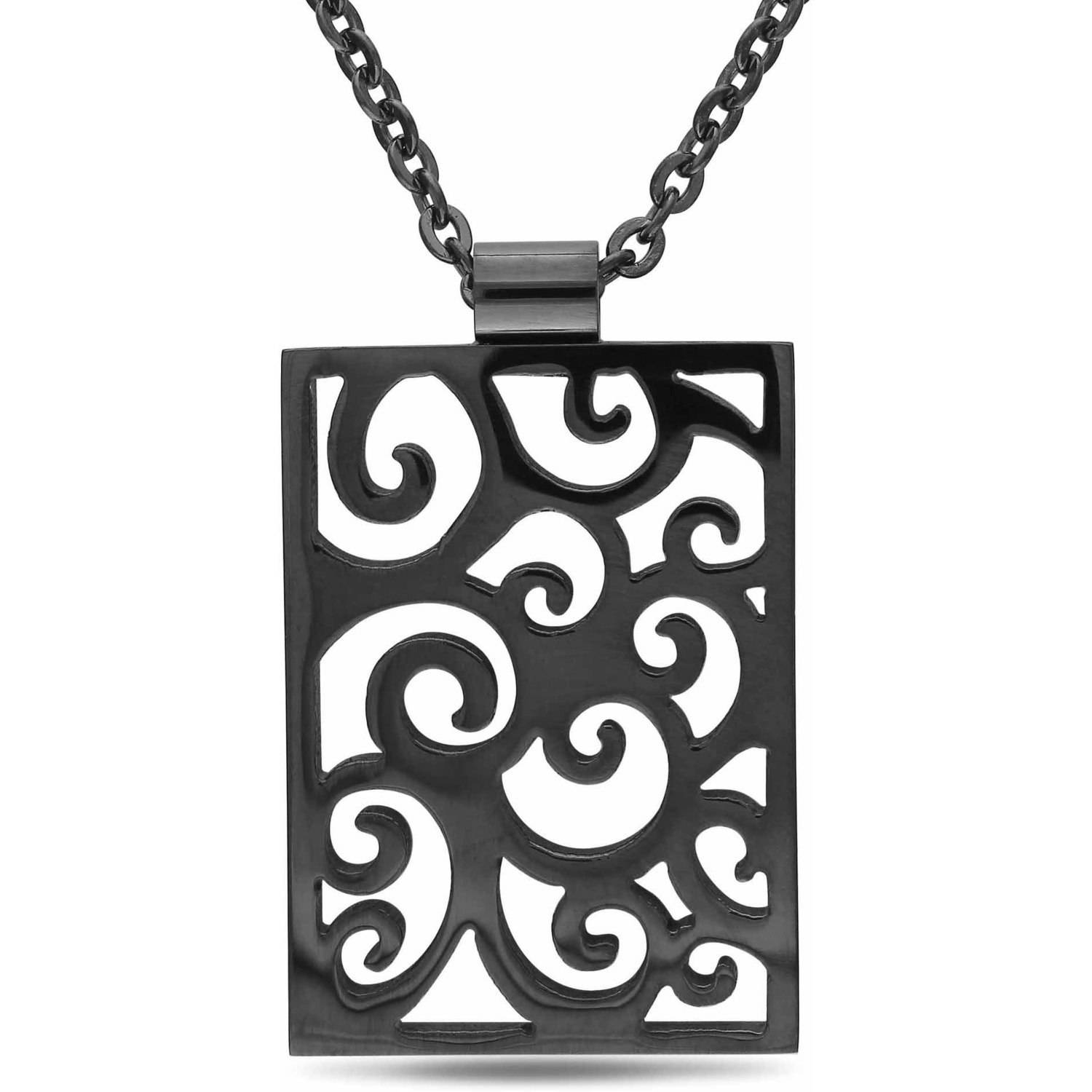 Stainless Steel Multi-Design Fashion Pendant, 18""