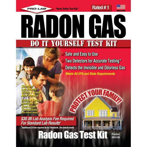 PRO-LAB RA100 Radon Gas Do It Yourself Test Kit