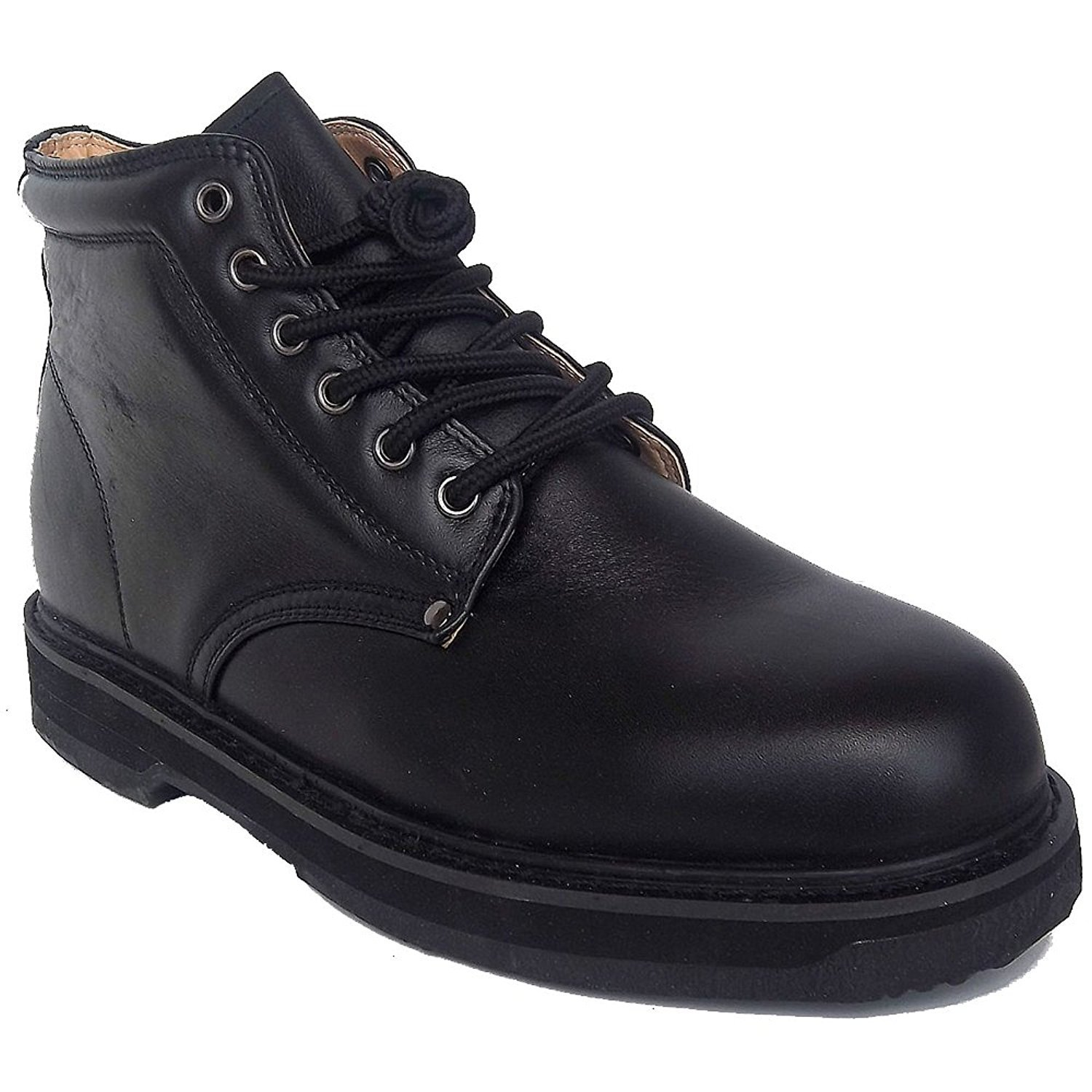 Vegace 9005 Mens Black Leather Oil Slip Resistant Occupational Work Hiking Boots