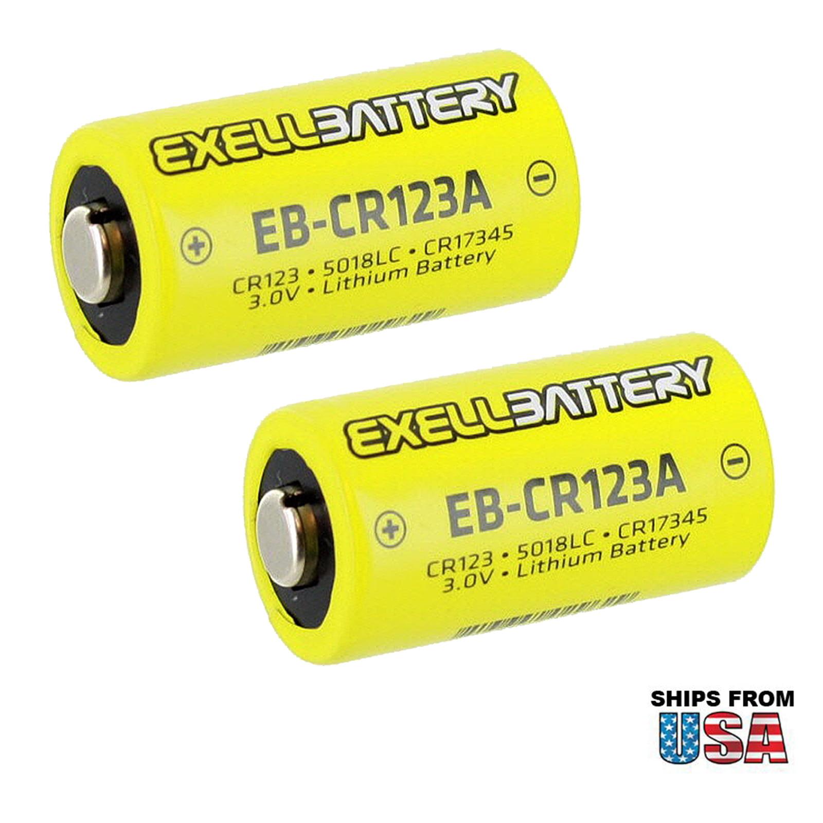 2X 3.0V CR123A Lithium Battery Fits ATN Armasight Yukon Firefield Morovision