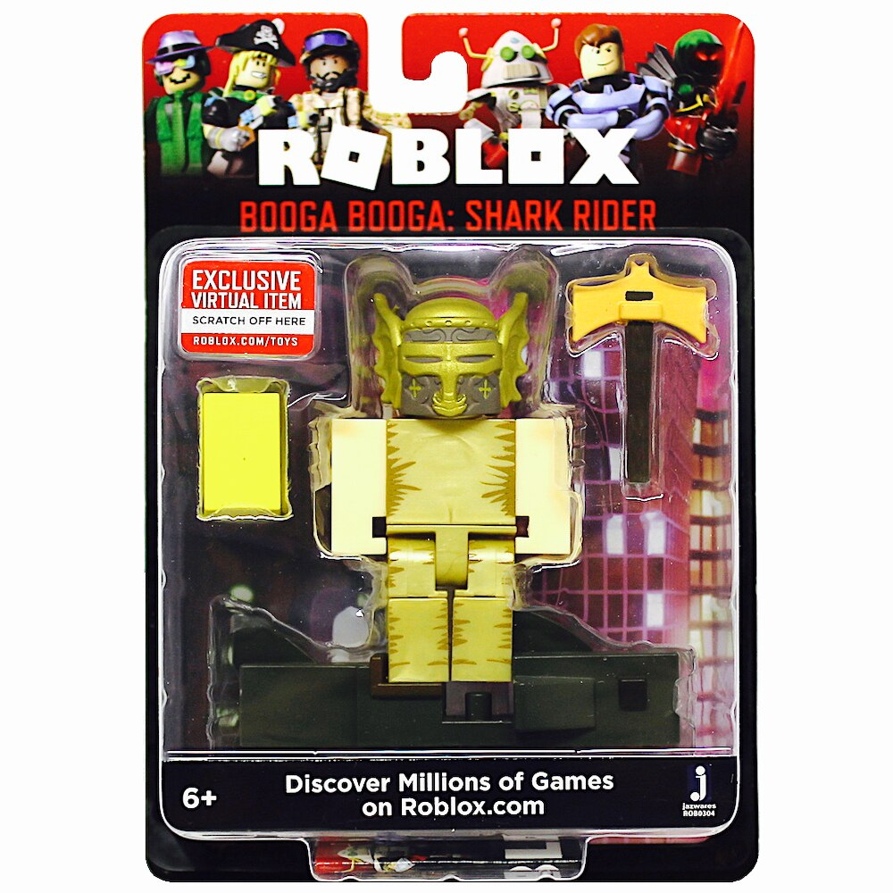 Does Booga Booga Roblox Auto Save Roblox Action Collection Booga Booga Shark Rider Figure Pack Includes Exclusive Virtual Item Walmart Com Walmart Com