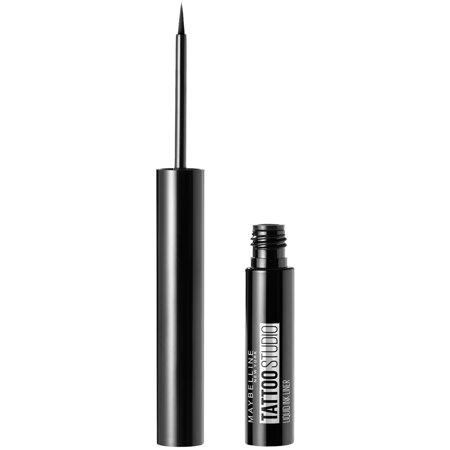 Maybelline TattooStudio Liquid Ink Eyeliner, Ink Black, 0.08 fl. (Best Liquid Eyeliner For Oily Lids)