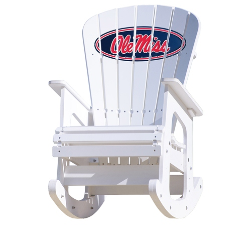 NCAA Rocking Chair By Key Largo Adirondack   Ole Miss Rebels