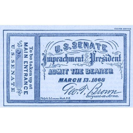 Impeachment Ticket 1868 Rolled Canvas Art - Science Source (24 x 18)](Science Center Halloween Tickets)