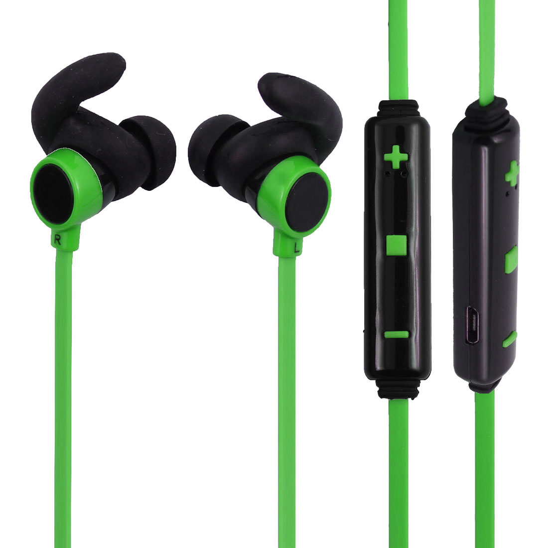 bluetooth 4.1 Wireless Headphone In-ear Earbuds Microphone Green for Sport