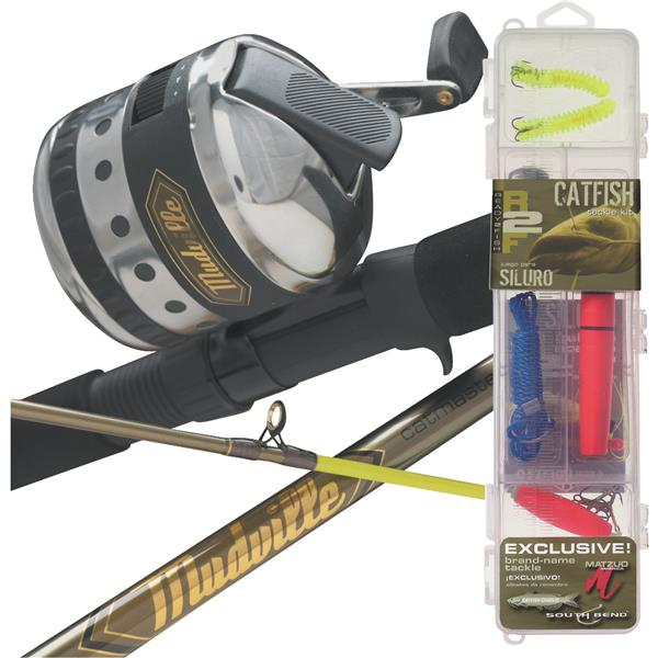 South Bend R2F Catfish SC Fishing Rod & Reel Combo