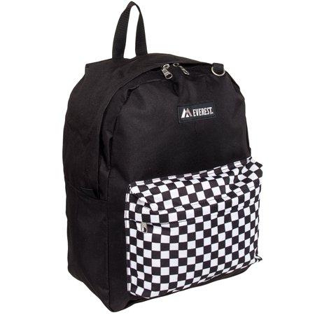 Everest Mens Classic Standard Travel School Book Backpack Bag 2045Cr New