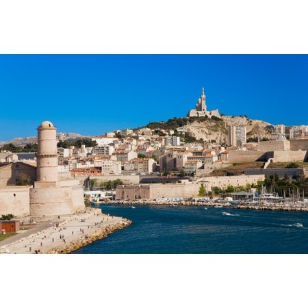 Fort Saint-Jean and old port of third largest city in France Marseille Provence France on the Mediterranean Sea Poster Print by Panoramic Images - City Of Port Saint Lucie