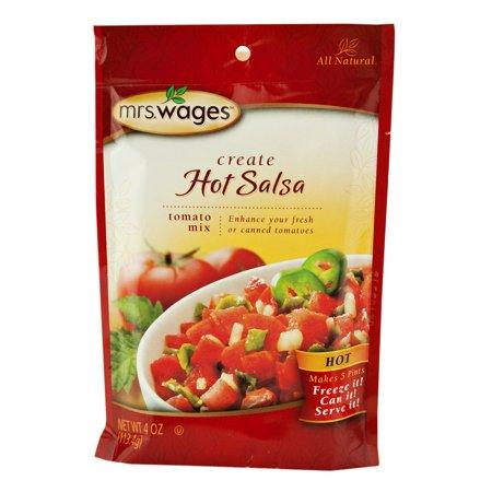 - Mrs. Wages Hot Salsa Mix 4 oz. (6 Packets)