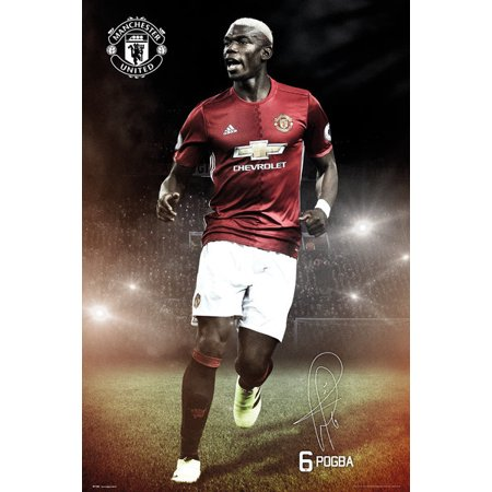 Manchester United Pogba 1617 Laminated Poster (24 x 36)