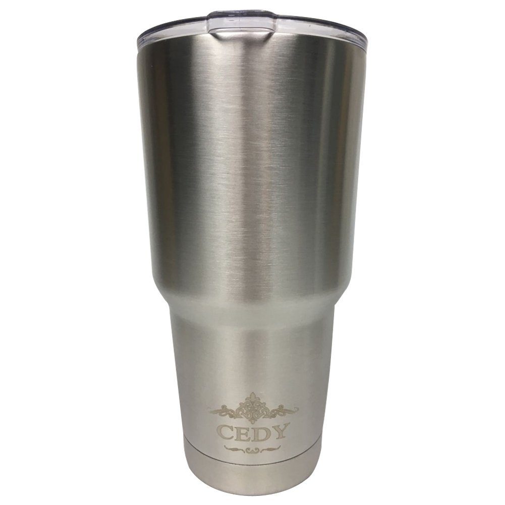 30 oz Stainless Steel Vacuum Insulated Tumbler with Lid, Double-Wall Vacuum Insulation Travel Cup & Coffee Mug... by