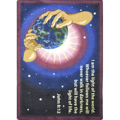 Joy Carpets Faith Based I Am The Light Area Rug
