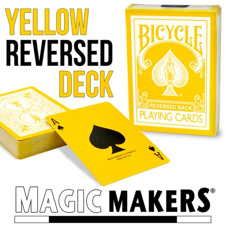 Magic Makers Bicycle Reverse Back Yellow Deck