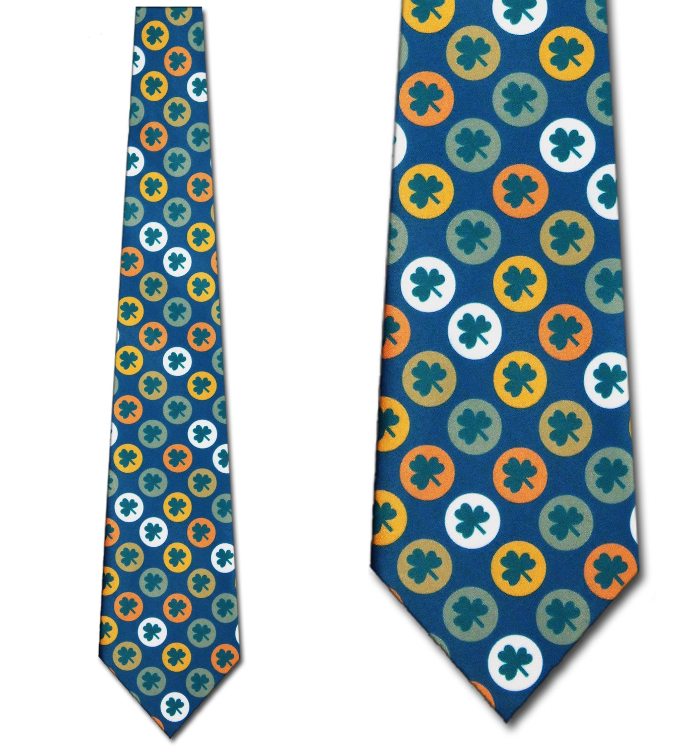 Clover Circles Allover Necktie Mens Tie