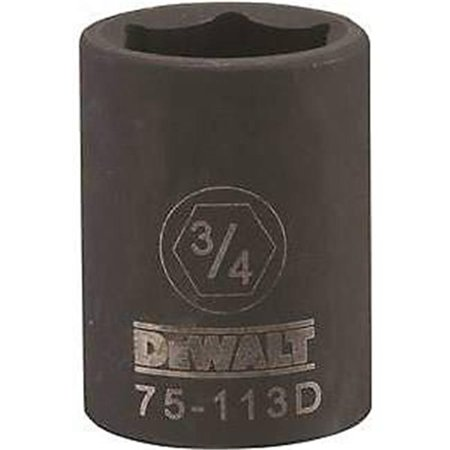 Stanley Tools 7516800 DWMT75113OSP Impact 0.5 Drive 6 Point Socket, 0.75 in. - image 1 of 1