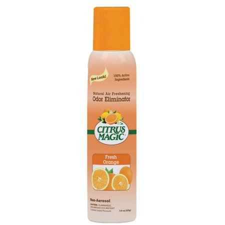 Citrus Magic Natural Odor Eliminating Air Freshener Fresh Orange, Pack of 3, 3-Ounces (Room Magic Natural)