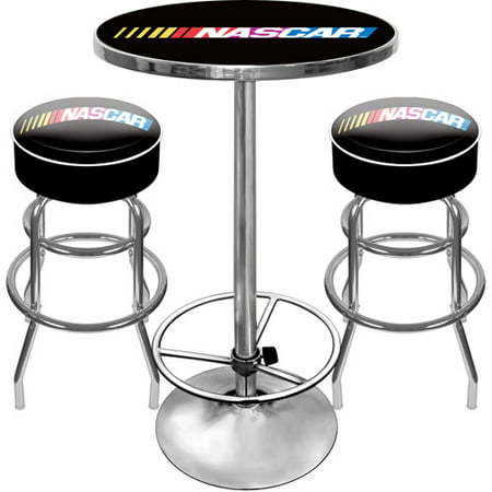 NASCAR Gameroom Combo - 2 Bar Stools and Table Set