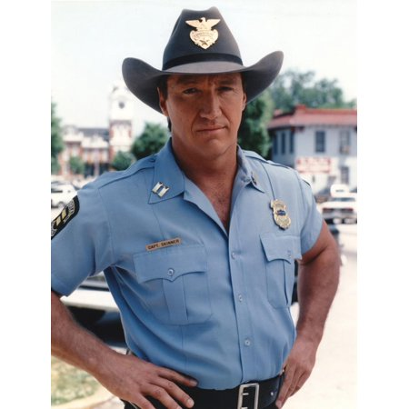Alan Autry Posed in Police Outfit Print Wall Art By Movie Star (Alan Autry In The Heat Of The Night)
