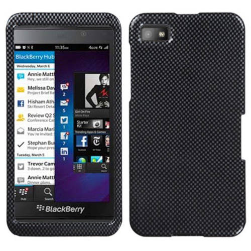 Blackberry Z10 MyBat Protector Case, Carbon Fiber