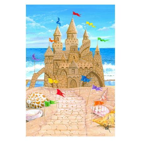 Toland Home Garden Sandy Castle Flag - Castle Flags
