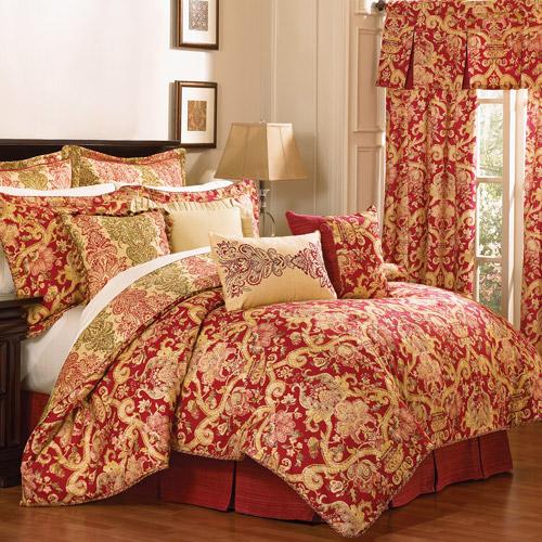 Waverly Archival Urn 4pc Queen Comforter Set