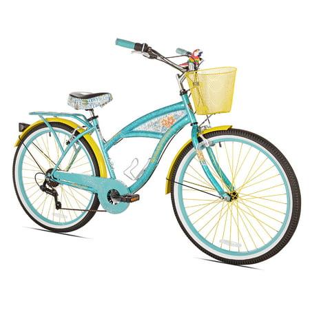 """BCA 26"""" Women's, Margaritaville Multi-Speed Cruiser Bike, Teal"""