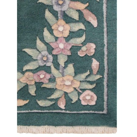 - Rugsotic Carpets Hand Knotted Persian Wool 4'x6' Oriental Area Rug Abushan Green PR0003