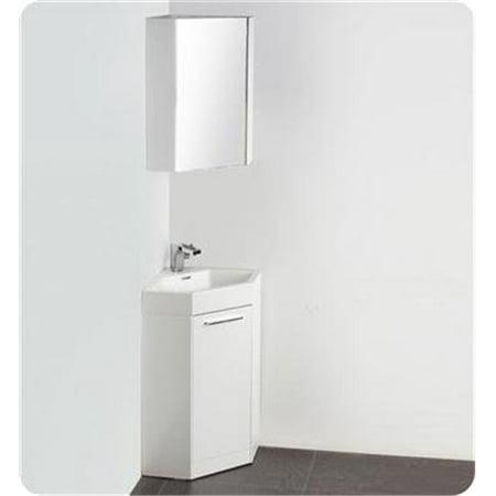 Coda 18 In White Modern Corner Bathroom Vanity Walmart Canada