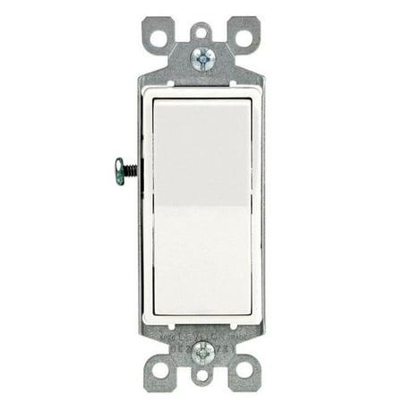Leviton 3072709 White Single Pole Decora Switch - Pack of 10
