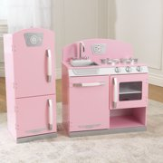 Kidkraft Pink Retro Kitchen Refrigerator Image 3 Of 13