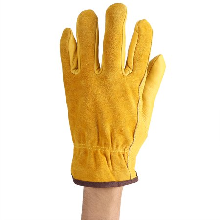 LYUMO 1Pair 2 Layers Leather Gloves Working Protection Gloves Garden Labor Gloves Gardening, Gardening Gloves, Working Protection Gloves - image 1 of 8
