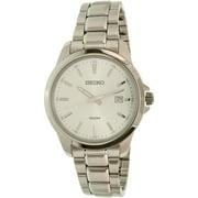 Seiko Men's SUR151 Silver Stainless-Steel Quartz Watch