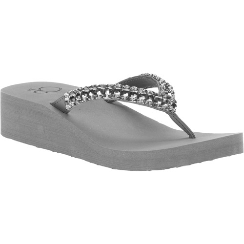 OP Women's South Beach Beaded Thong Flip Flop Sandals