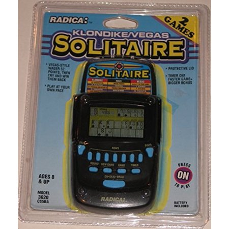 Radica Electronic Game - Radica Klondike Solitaire Handheld Game