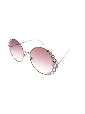 Fendi Ribbons And Crystals FF 0324 35J 3X Womens  Round Sunglasses