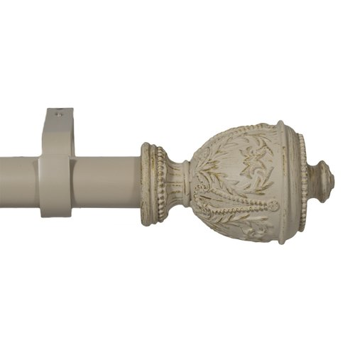 Urbanest Grecian Urn Single Curtain Rod and Hardware Set by