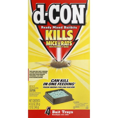 d-CON Rodenticide Rodent Ready Mixed Mouse Bait Baitbits, 12 Ounce