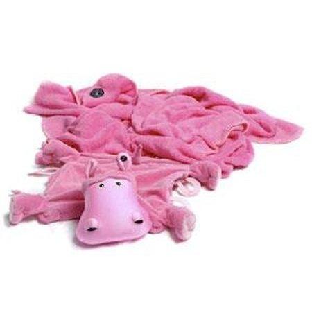 Zoobie Hada the Hippo Blanket Pillow All in One - Walmart.com