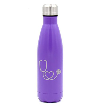 Doctor Who Travel Mug (17 oz. Double Wall Vacuum Insulated Stainless Steel Water Bottle Travel Mug Cup Heart Stethoscope Nurse Doctor)