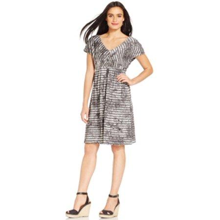 Style & Co Women's Embellished V-Neck Black Dress Size XS