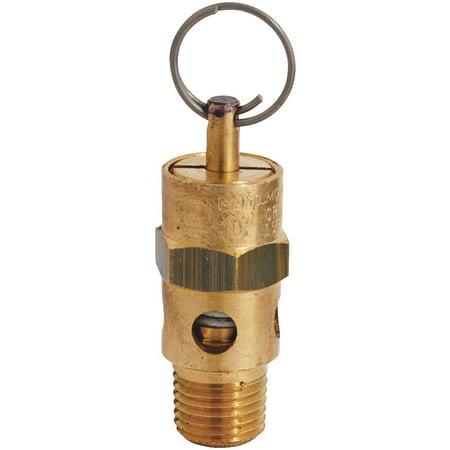"""Milton 1/4"""" MNPT ASME Safety Valve - 150 PSI Pop off Pressure"""